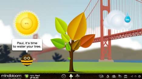 Motivational Well-Being Games - Mindbloom Life Game Helps You Improve Your Quality of Life