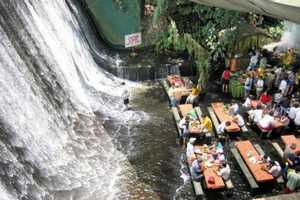 The Villa Escudero Waterfalls Restaurant is a Refreshing Retreat