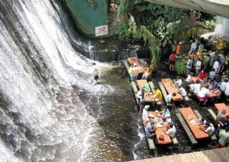 Exclusive Cascading Cafeterias - The Villa Escudero Waterfalls Restaurant is a Refreshing Retreat