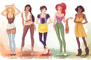 The DeviantART User Viria13 'Fashion Princesses' are Rad Recreations