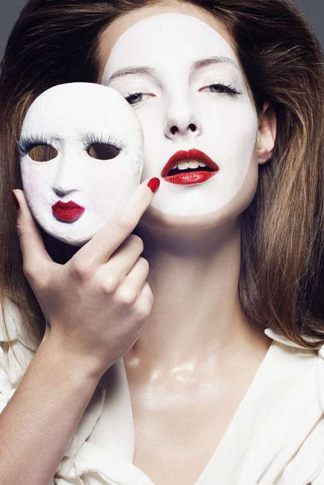 Mask-Inspired Photography - Pierre Dal Corso for Masquerade Magazine Captures People