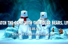 Arctic Sports Fan Campaigns - Coca-Cola Polar Bears Will Watch Super Bowl & Give Feedback on Plays