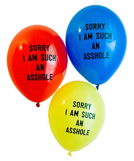 Floating Honest Appologies - 'Sorry I'm Such an Asshole' Balloons Let You Share Your Remorse