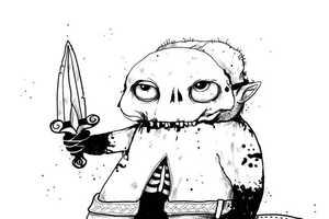 Ilya Kazakov Illustrations Feature Creepy Undead Creatures