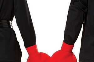 The I Sew Naked Heart-Shaped Mitten Keeps You and Your Loved One Warm