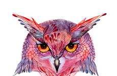 Whimsically Colored Wildlife Art