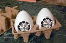 Breakfast-Sized Speakers - The Olasonic TW-S7 Takes on an Adorably Small Egg-Shape Design