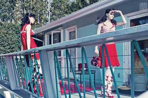 Querelle Jansen and Katlin Aas Star in an Editorial for W Magazine Feb 2012