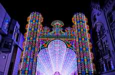 Captivating Luminous Cathedrals - The Luminarie De Cagna is Blindingly Beautiful