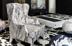 Faux Stone Seating - The 'Unusual Soft Marble Armchair' by Maurizio Galante is Cleverly Designed