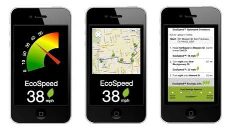 Fuel-Saving Smartphone Apps - The EcoSpeed App Greenly Gets You from Point A to Point B