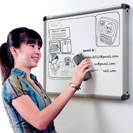 High-Tech Whiteboard Erasers - The Erascan Saves Erased Notes and Doodles to a Built-In Memory Card