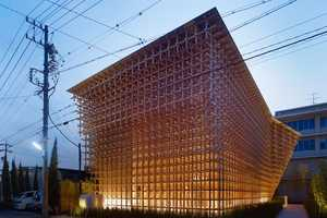 Prostho Museum Research Center is Made of Wooden Sticks