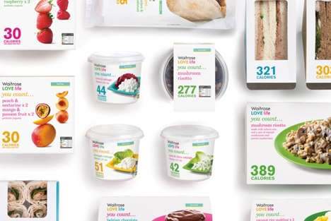 Bright Informational Branding - Waitrose 'LOVE life You Count...' Colorfully Display Calories