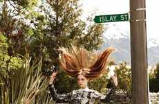 Flirty Roadside Photography - The Jemma Baines for L'Officiel Singapore Shoot is Gorgeously Feminine