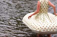 Inflatable Raft Frocks - Boat Dress by Jacqueline Bradley Keeps Afloat Amidst Fluctuating Fashions
