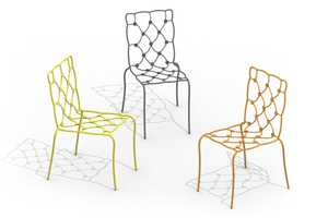 These Cushion Chairs Present the Illusion of Quilted Pillows