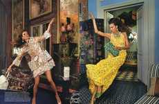 Falling Housewife Photography - The Karlie Kloss Vogue US Editorial is 60s-Inspired