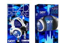 Beat Blaring Liquor Branding - Casa Rex Creates Fun-Loving Packaging for SKYY Vodka