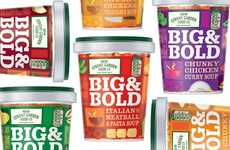 Loud Soup Branding - Ziggurat Brands Create Packaging for 'Big & Bold' that Does the Name Justice