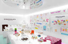 Sugar-Branded Shops - The Cioccolato Store Rebranding by Savvy Studio Has a Serious Sweet Tooth