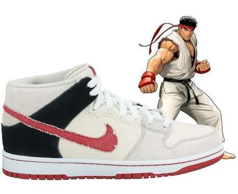 14 Gamer Footwear Fashions - From 8-Bit Peep Toes to Vintage Arcade Brawling Kicks