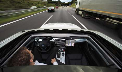self-driving semi-autonomous BMW