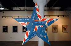 Star-Shaped Barricade Sculptures