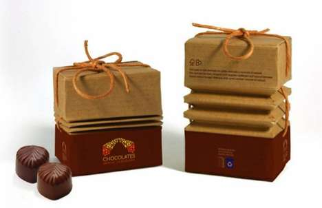 Accordion Eco Cartons - This Chocolate Ecopack Concept is Light on the Earth and Generous on Dessert
