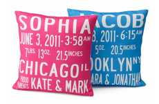 Downy Identifying Documents - These Birth Announcement Pillows Serve as Soft Stuffed IDs