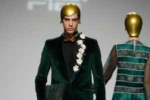 The David Del Rio Fall/Winter 2012 Plays Dress up with Plastic Hair
