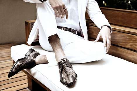 All-White Accessory Ads - The Montana Spring/Summer 2012 Campaign Features Reptilian Accents