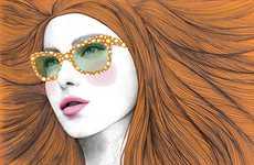 Four-Eyed Fashionista Drawings
