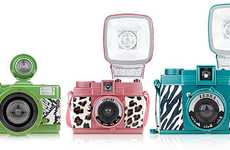 Romantic Refashioned Cameras - The Lomography Valentines Day Collection Features Zebra Print