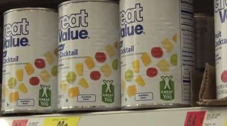 Mass Retailer Health Labels - Walmart 'Great For You' Icon Informs You of Smarter Food Choices