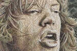 Alexi Torres Paints Portraits Resembling Burlap Sculptures