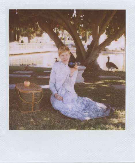 Polaroid Picnic Lookbooks - The Band of Outsiders Spring Catalog Stars Michelle Williams
