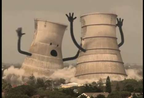 Collapsing Cooling Towers