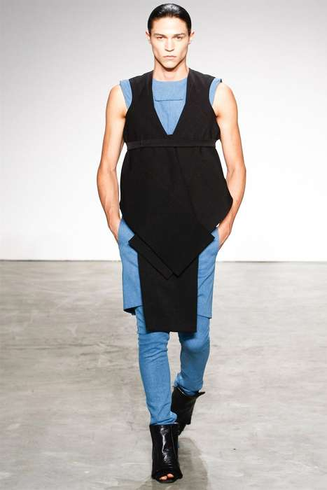Utilitarian Unisex Uniforms - Rad by Rad Hourani Spring/Summer 2012 Blurs Gender Roles