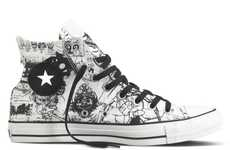 Cartooned High Tops (UPDATE) - The Converse Gorillaz Collection Features Exclusive Artwork