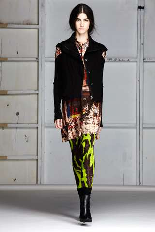 Piled-On Pattern Fashion - The Gary Graham Fall 2012 Release is Chaotic in the Best Way