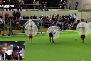 This Bubble Football/Soccer Mash-up is the Greatest Game Since Curling