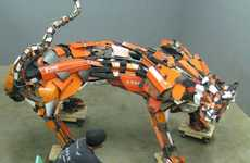 Scrap Metal Monsters - Robert Jefferson Travis Pond Turns Old Parts into Bold Beasts