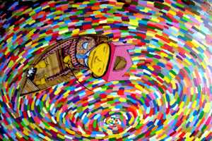 A Preview of the Os Gemeos 'Miss You' at the Prism Gallery