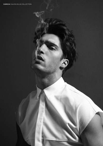 Sultry Smoking Shoots - The Mario Loncarski by Saverio Cardia Portrait Series is Simple and Chic