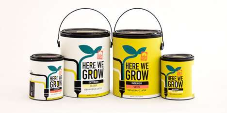 Here We Grow Paint Packaging