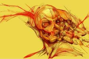 Cloxboy Illustrates Craniums with Varied Psychedelic Effects