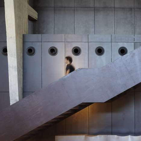 Contemporary Concrete Galleries - Pitsou Kedem Designs Stylish Showroom for B&B Italia