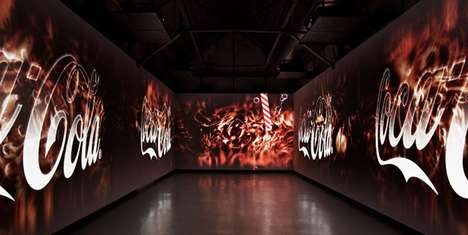 Immersive Brand Projections - Antilop Creates Coca-Cola Future Room for Santralistanbul