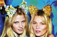 Bunny-Eared Beauties Editorials - 30 Years of Optimism for Love Magazine by Mario Testino